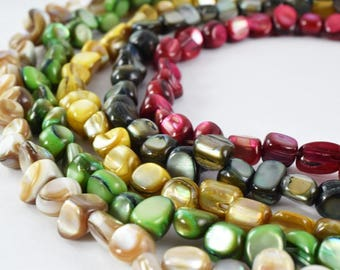 "Mixed Sizes Natural Shell Fragment Beads 16"" Strand Shell Bead,Natural Shell Beads,Beading Supplies,Wholesale Beads, Beads,Beach shell"