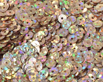 3/4/6mm Copper Light Brown  Iridescent Flat Sequins Round/Loose Paillettes/Wholesale Sequins Multi-Color, Loose Sequin Apparel,Shoe Decor