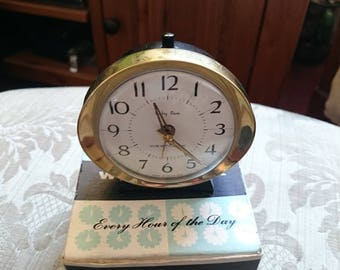 Vintage Baby Ben Alarm Clock By Westclox.Made In Scotland box dated 1965