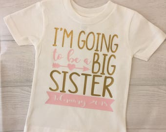 Im going to be a big sister/brother onesie or shirt
