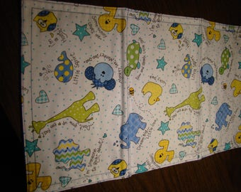 Set of 2 Flannel Burp Cloths
