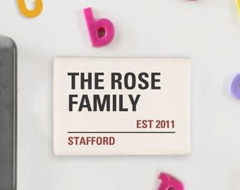 London street sign fridge magnet, Personalised fridge magnet, Save the date magnet, Personalised wedding favour,Housewarming gift