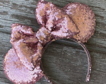 All Rose gold Minnie inspired mouse ears