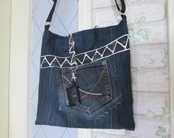 Jeans bag handbag purse bag PIP