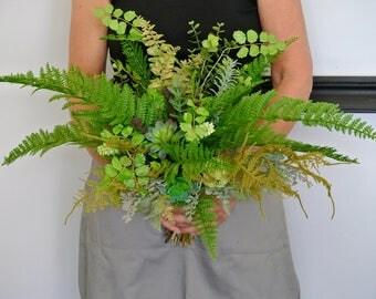 Botanical foliage brides bouquet