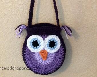 Crochet Owl Purse PATTERN - Crochet Owl - Crochet Purse - Girls Purse Pattern - Easy Crochet Pattern - Beginner Crochet Pattern
