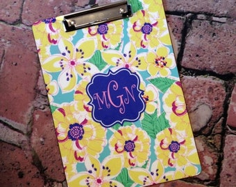 SALE Custom Mary Beth Goodwin Design Clipboard - Choice of 18 Patterns, Frame, Monogram - Personalized Clip Board 2 Sided Dry Erase Surfa