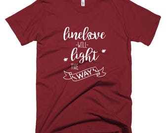 Linelove Will Light The Way Lineman's Wife Linewife Tee