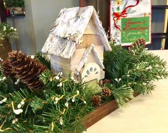 Christmas Wood Box Centerpieces Holiday Decor Home Decor Farmhouse Decor Tabletop Decor Gift Michelle Dornstreich