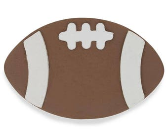 "4"" Wooden Hand Painted Football Cut Out"