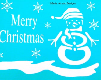 List 8 - Assorted Christmas stencils (Price is per photo/design) *Free gift with every order*