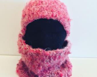 Cowl and headband winter set