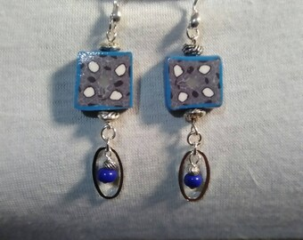 Earrings Silver 925 and polymer clay