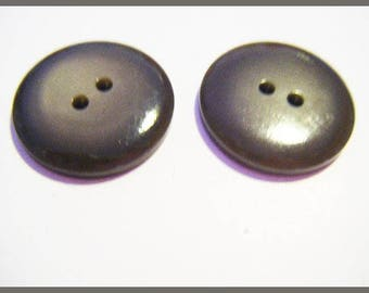 Set of 2 buttons taupe grey