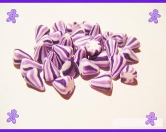 30 miniature berlingots Fimo polymer - vial - decoration