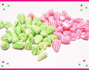 ♥ 60 miniature berlingots Fimo polymer clay - for jar ♥