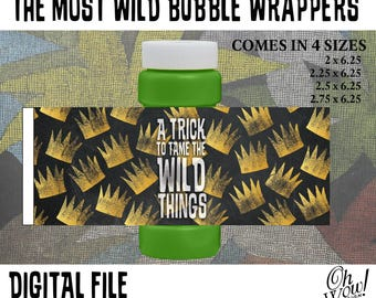 Where the Wild Things Are Party Theme Bubble Wrappers | A Trick To Tame The Wild Things Bubble Wrappers