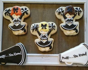 Customizable Cheerleading Cookies - One Dozen