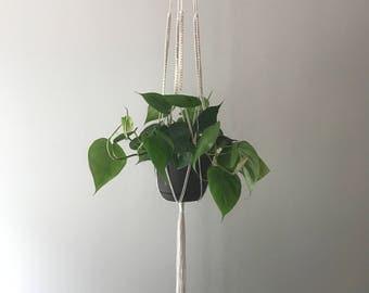 "Macrame plant hanger-48"" cotton-boho home-bohemian decor-minimalist-great gift idea"