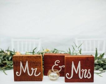 Mr & Mrs Australian Timber Wedding Sign