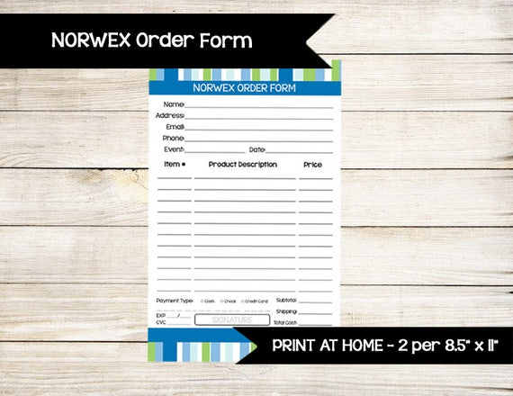 norwex inspired order form enter to win door prize