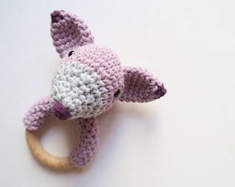 Pastel Fox Rattle & Teether