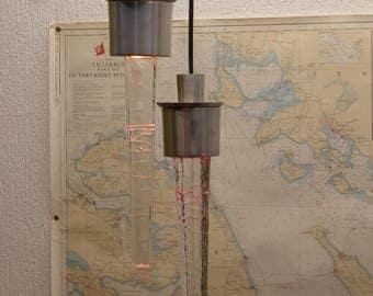 Danish Vitrika Icicle Pendant Lights Pair Of