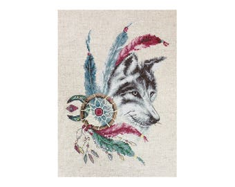 Cross Stitch Kit The Wolf