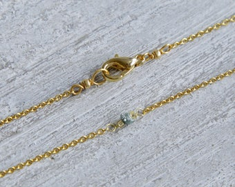 Tiny Rough Diamond Choker,  Tiny Diamond Choker, Dainty Diamond Necklace, Boho Diamond Choker, Tiny Diamond Necklace, Rough Diamond Necklace