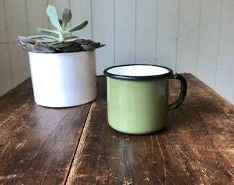 1970's Enamel Mug Made in Poland