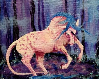 "Original Unicorn painting ""Mystic Dance"""