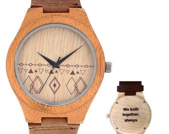 Personalized wood watch - Gea - Engraved