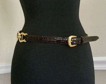 Vintage Franchetti Bond Italian Equestrian Belt