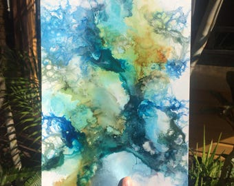 "original mixed media painting ""Of Earth"""