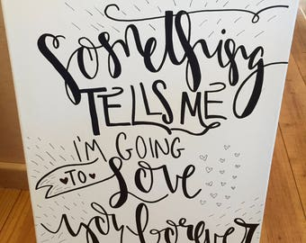 Wedding Signs on Canvases