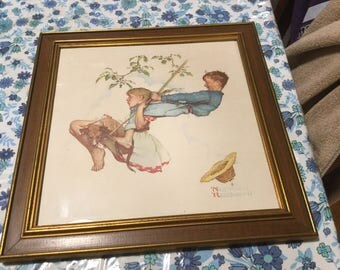 Rockwell Painting Etsy