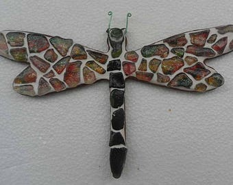 Beautiful Sea Glass Dragonfly