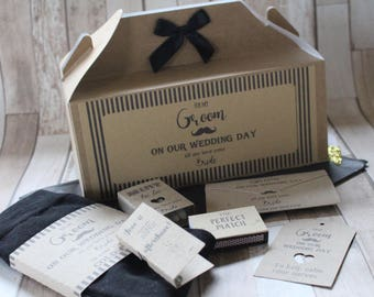 Groom Gift box-Includes box/socks//tags/tissues/Lottery or scratch card wrap