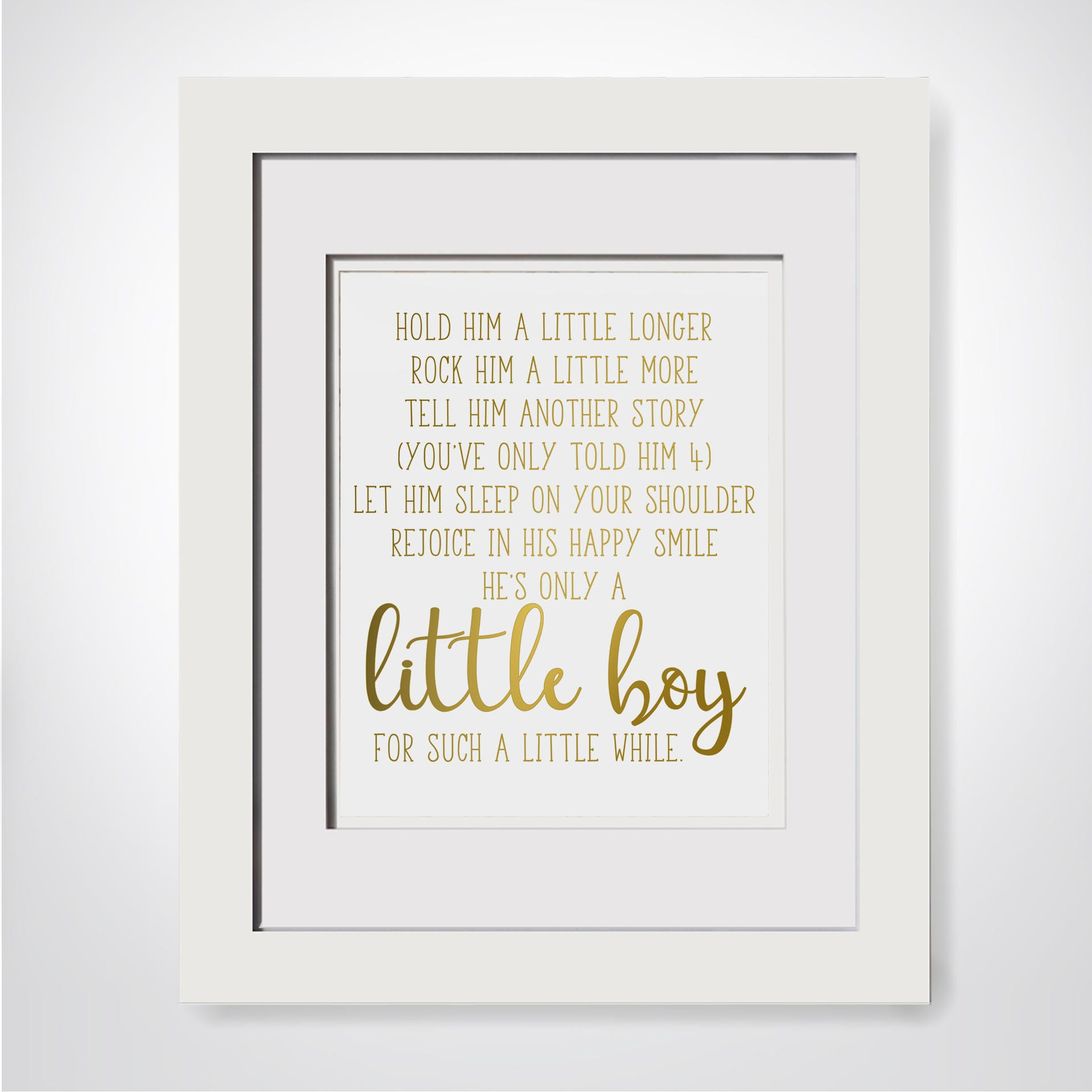 Hold Him A Little Longer|Poem For Godson Baptism Gift Godson|Gift ...