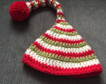 Crochet elf hat