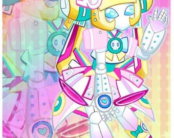 "Cute Robot Gammax007 4""x6"" Art Print"