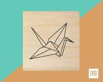 Paper Crane - 3cm Rubber Stamp (DODRS0109)