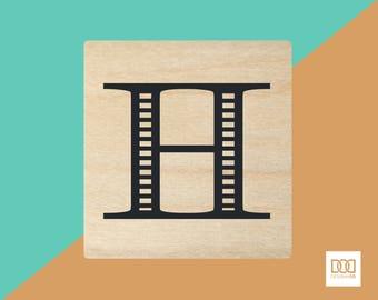 Modern Alphabet-H - 3cm Rubber Stamp (DODRS0162)