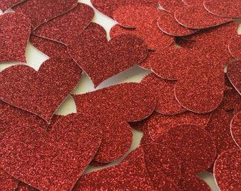 Glitter Heart Confetti / Heart Confetti / Wedding Confetti / Bridal Shower Confetti / Table Scatter / Wedding Table Decoration / Glitter