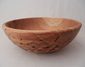 Decorative Wooden Bowl Cherry With Natural Ant Holes Handmade
