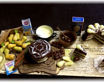 FIMOBABSI Market, pear cake baking, scene, manual work