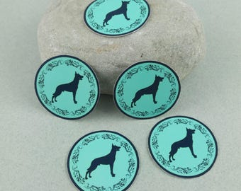 "Small sticker Kit ""Malinois"" blue"