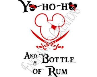 SVG/EPS/DXF/png file -Yo Ho Ho and a Bottle of Rum