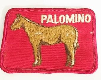 Palomino Horse Patch Vintage Palomino  Horse Patch  Vintage Sew On Embroidery Patch   Palomino  Horse Sew On Embroidery Patch
