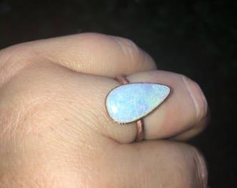 Opal Copper Ring
